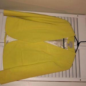 H&M yellow blazer size 4